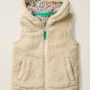 Mini Boden Cosy Gilet hooded vest sz 5-6y